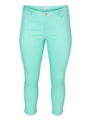 Powdery pastel capri jeans from JUNAROSE. #pastel #capri #jeans #plussize #fashion #junarose