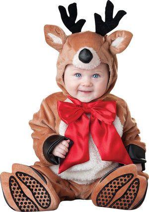 rascal reindeer baby costume - baby Christmas idea