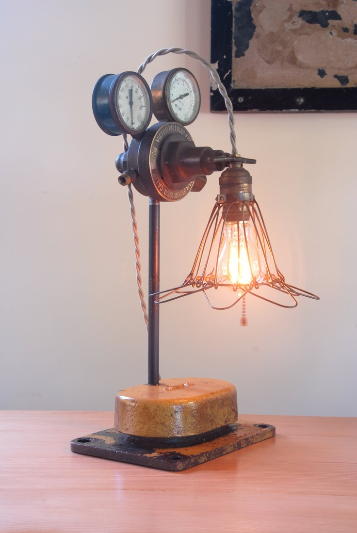 69 best ideas about industrial steampunk on pinterest for How to make an industrial lamp