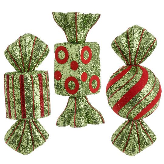 RAZ Cookie Confections 9inch Glittered Candy Ornament