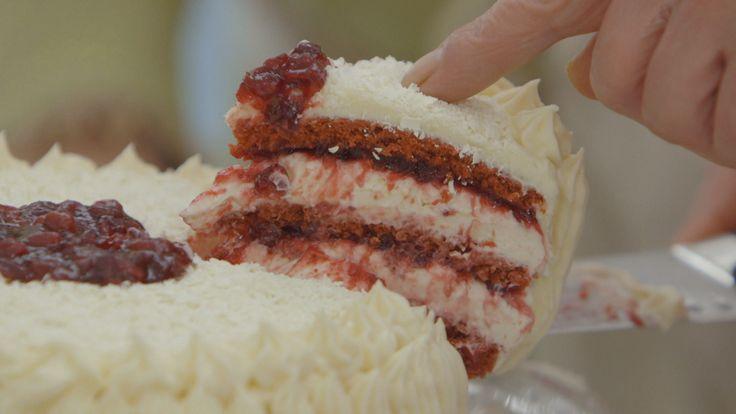 Martines prachtige gelaagde cheesecake #HHB #HeelHollandBakt #HHBrecepten #HeelHollandBaktrecepten
