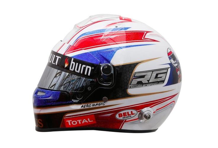 Romain Grosjean Helmet's Monaco 2013