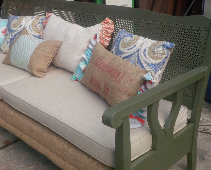 Antique Cane Back Sofa My Refurbs Farmhouse Chic