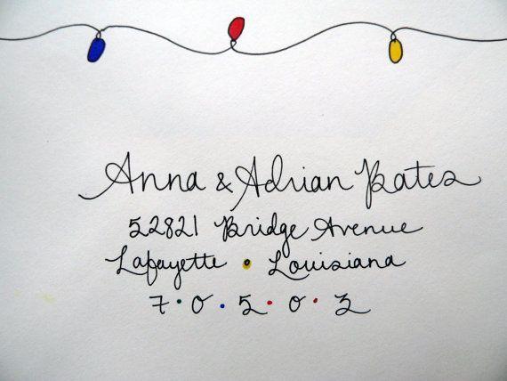 Holiday handwritten envelope addressing by HoneybeeHandwriting
