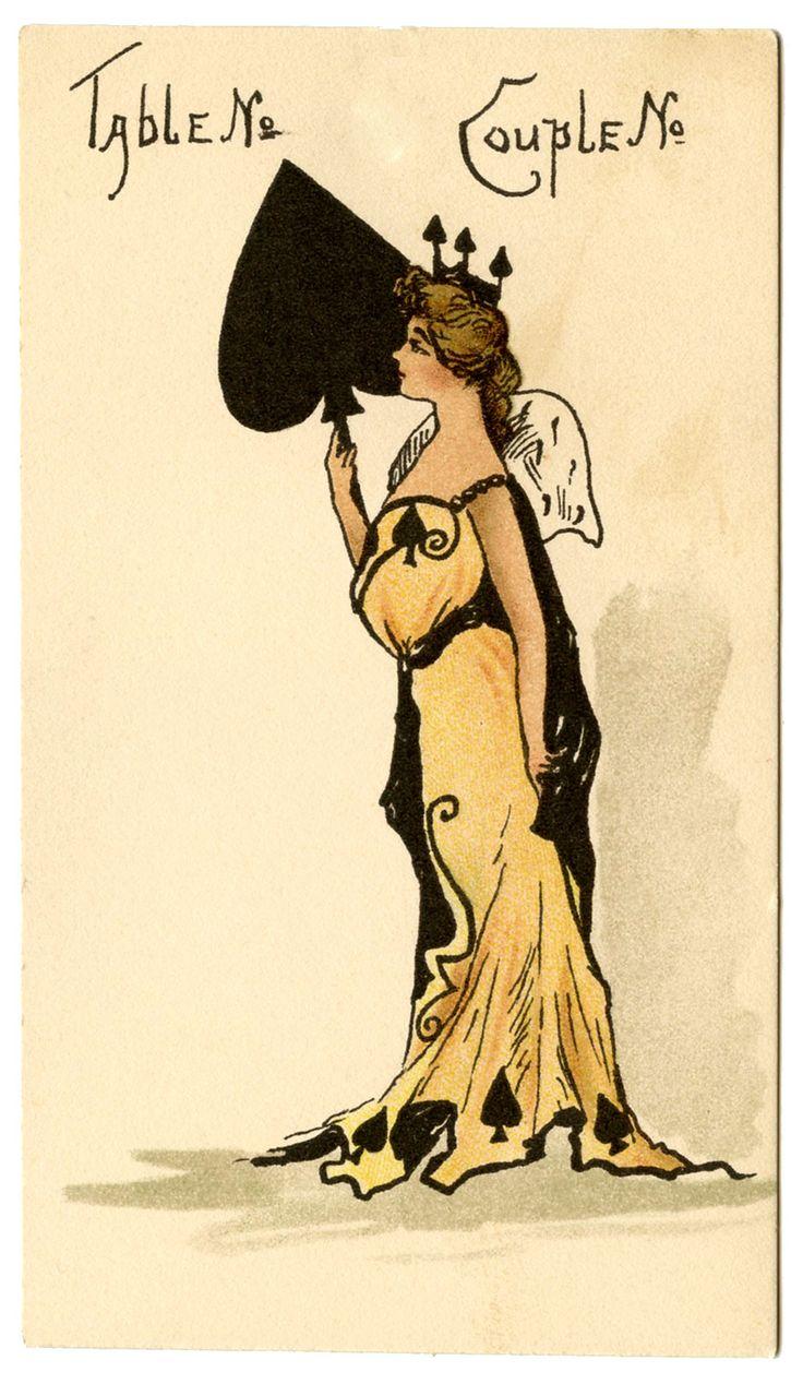 Spades, Bridge card, early 1900's.