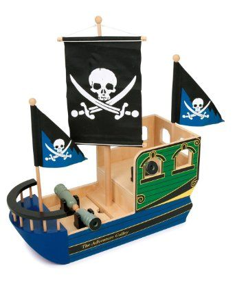 Small Foot Design 1163 - Piratenschiff Totenkopf: Amazon.de: Spielzeug