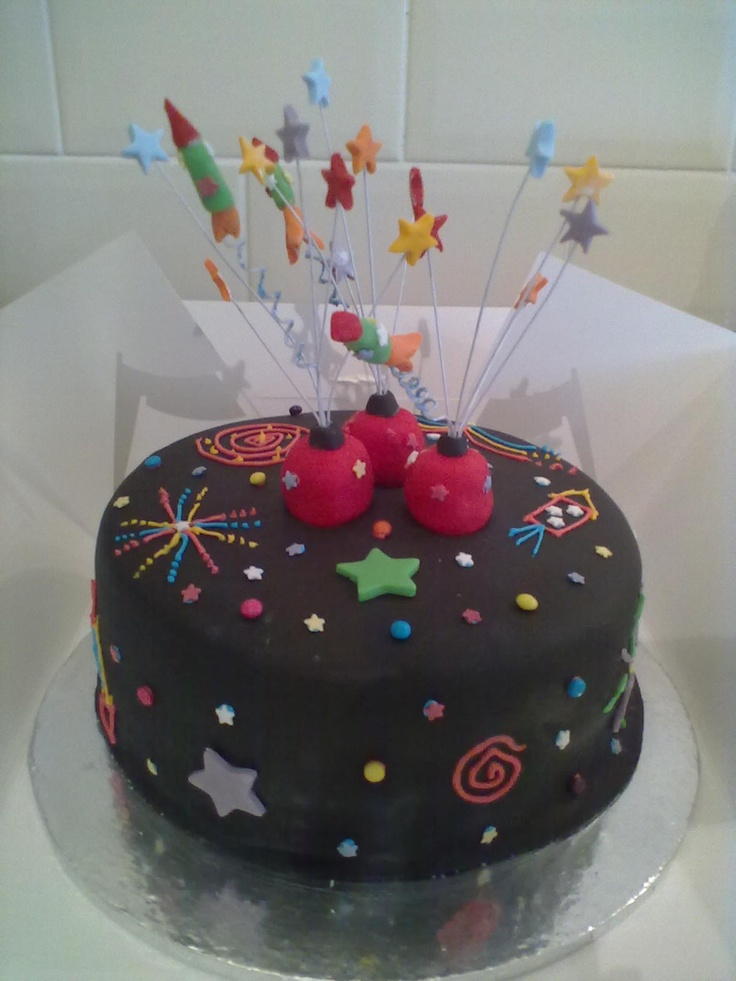 47 best images about angie 39 s katy perry firework birthday on pinterest - Birthday cake decorations ideas ...