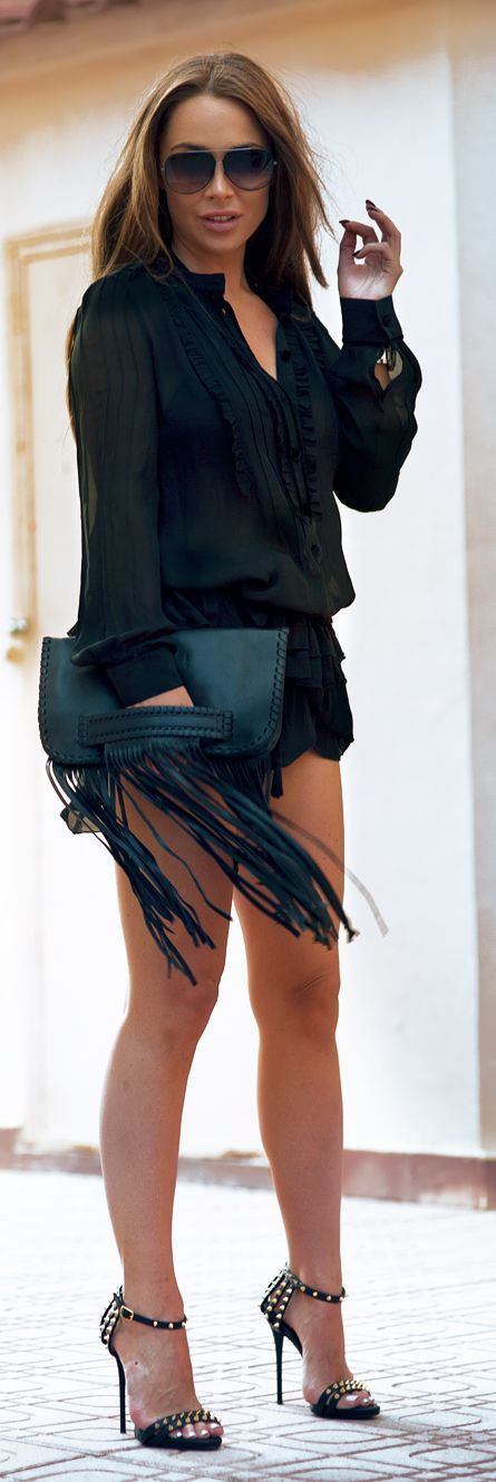 Fringes And Spikes Casual Chic Streetstyle