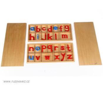 Jazykový materiál | Pohyblivá abeceda malá tiskací (velká sada) | Růžová věž - Montessori a domácí vzdělávání
