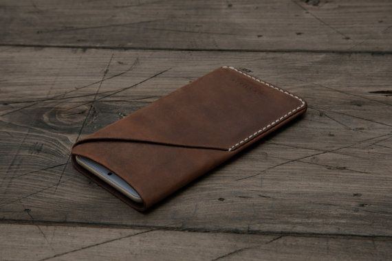 GRAMS28 / iPhone 6 6Plus leather sleeve case with card by GRAMS28