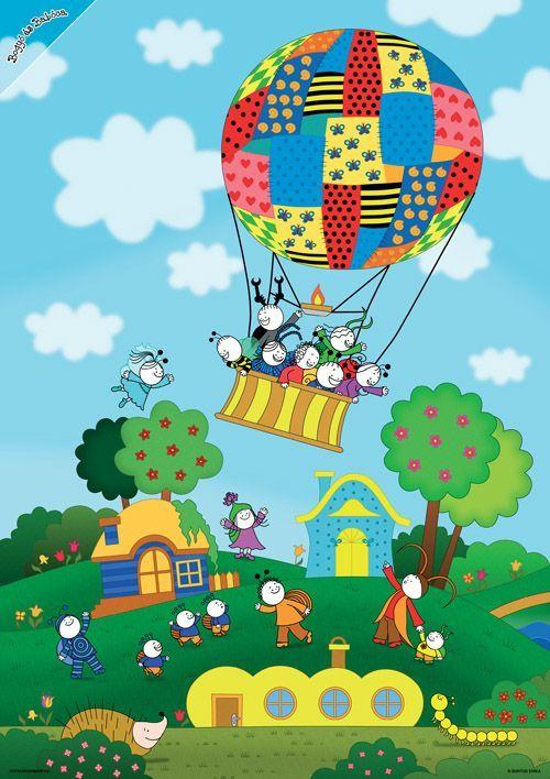 Bogyó és Babóca - A léggömb - poszter