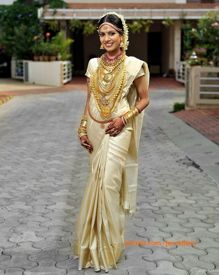 37 best images about kerala weddings on pinterest for Sari inspired wedding dress