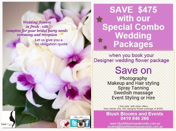 #Adelaide special offer. If you are getting married, this is one great way of saving money. Combine your packages under one roof