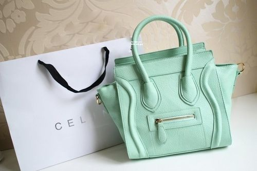 celine luggage tote green