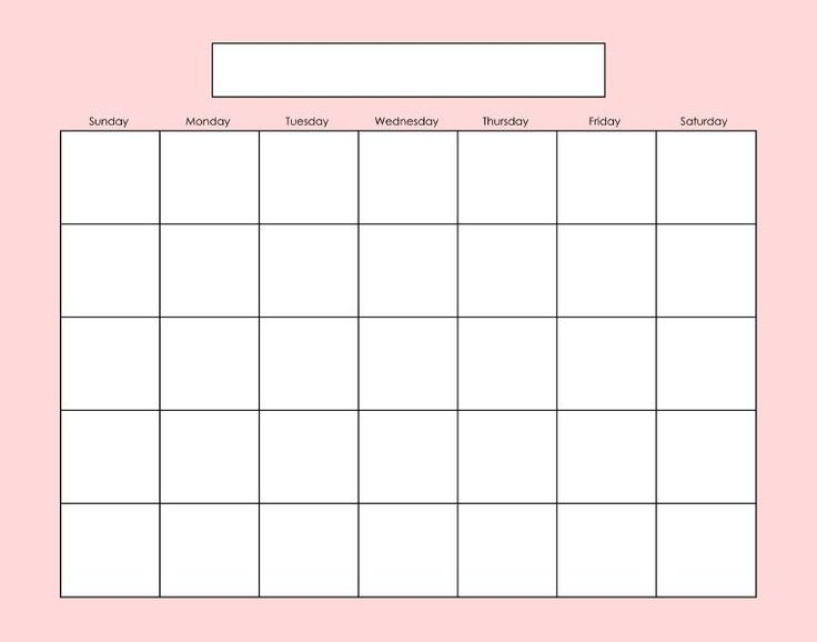 Blank calendar page. Fill as needed.