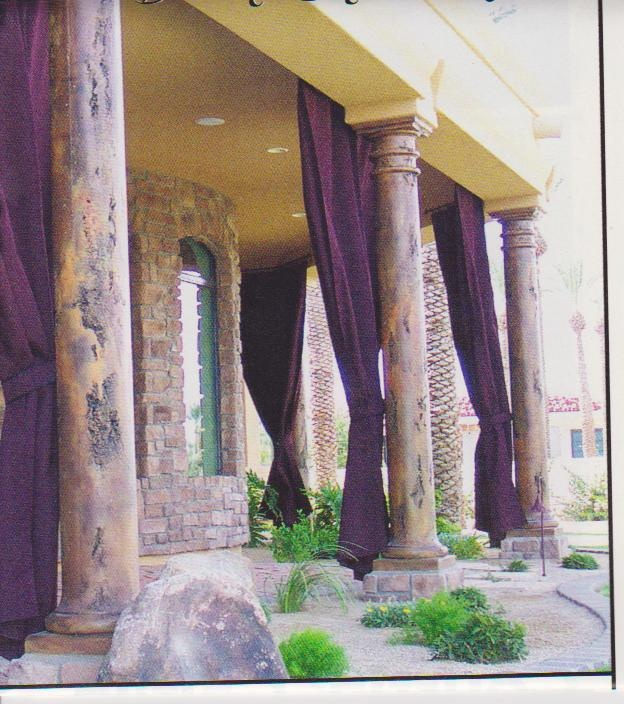 distressed patio pillars with outdoor curtains outdoorcurtains