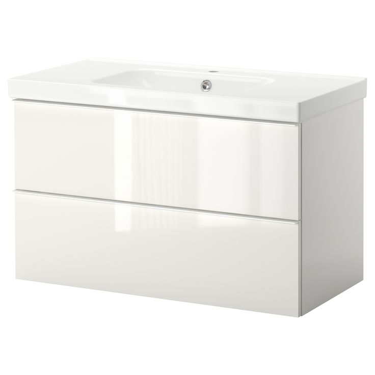 Godmorgon odensvik sink cabinet with 2 drawers high for Ikea article number