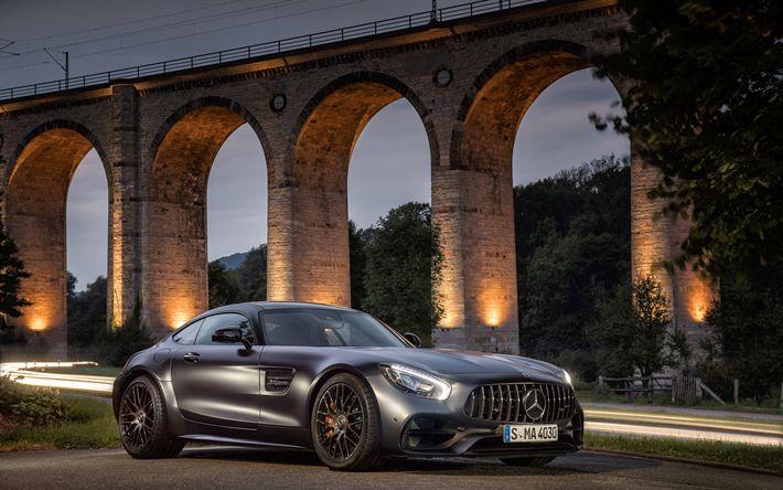 Descargar fondos de pantalla Mercedes-AMG GT C de la Edición 50 de 2018 coches, supercars, los coches alemanes, Mercedes