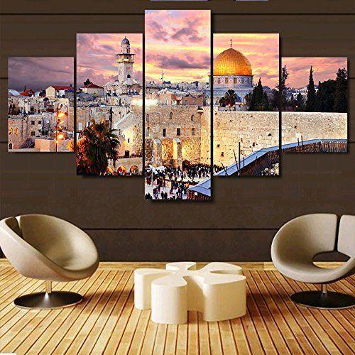K&N Jerusalem Cityscape Wall Art Giclee Printed Canvas Paint Picture Frame Decor #KandN #Modernism