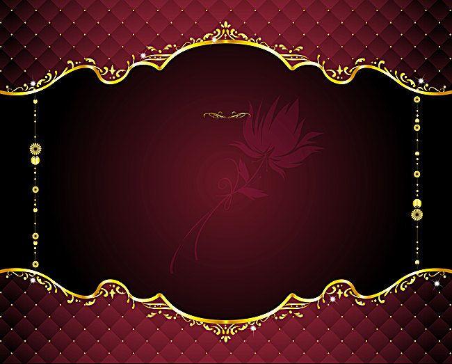 European Pattern Vector Red Gilt Border Background Banner Background Images Wedding Background Images Background Images