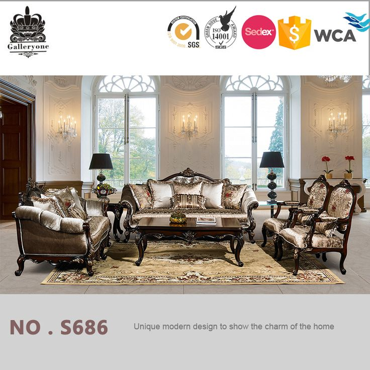 New Classic Cleopatra Style Luxury Sofa Sets Living Room Furniture