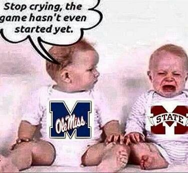 At Ole Miss we teach them early!  Hotty Toddy.......