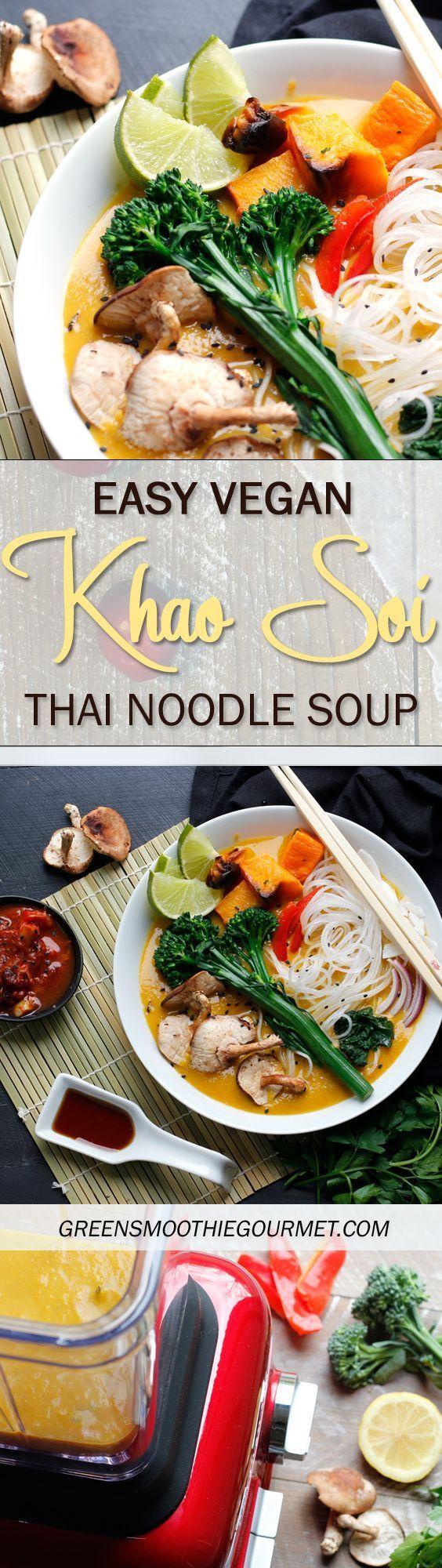Easy Vegan Khao Soi Thai Noodle Soup