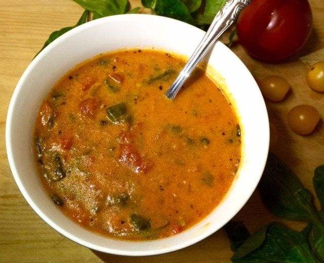 An amped up creamy tomato soup using ingredients you probably already have in your kitchen to keep you warm and comforted in these cold winter months.