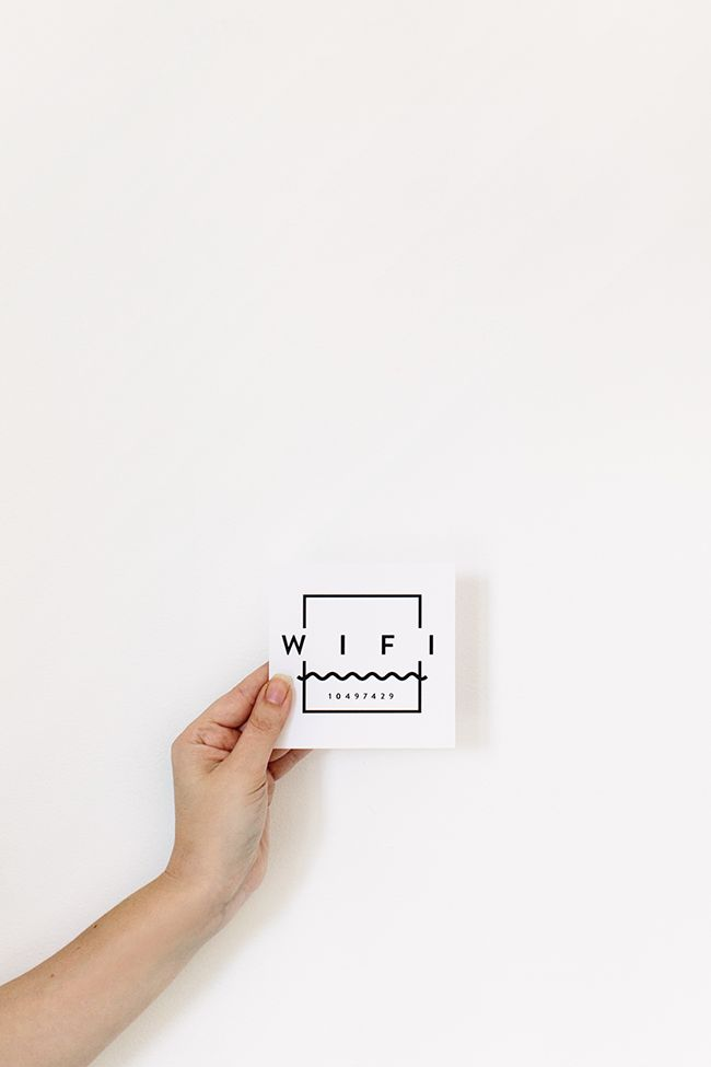 printable wifi guest card