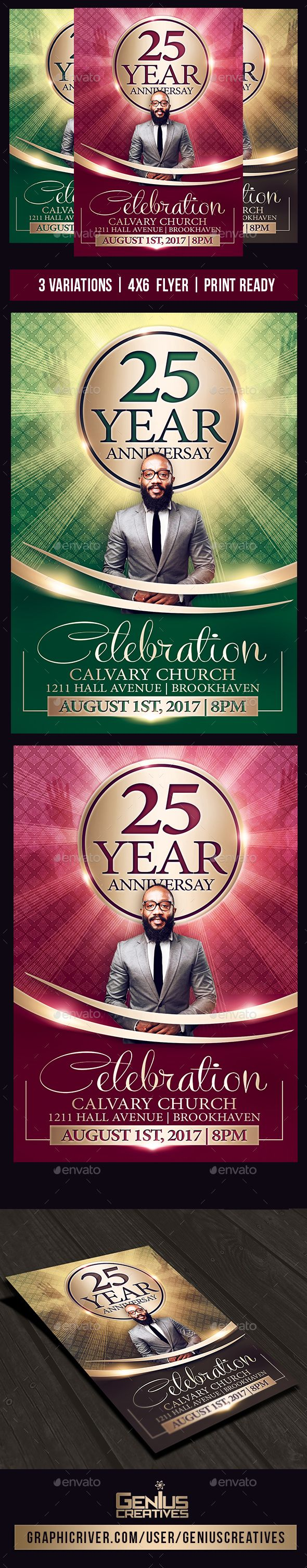 Church #Anniversary #Flyer - Church Flyers Download here:  https://graphicriver.net/item/church-anniversary-flyer/20462843?ref=alena994