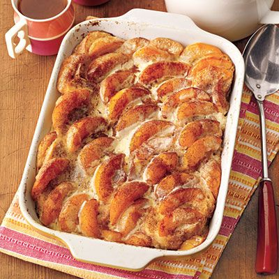 Overnight Peaches and Cream French Toast!