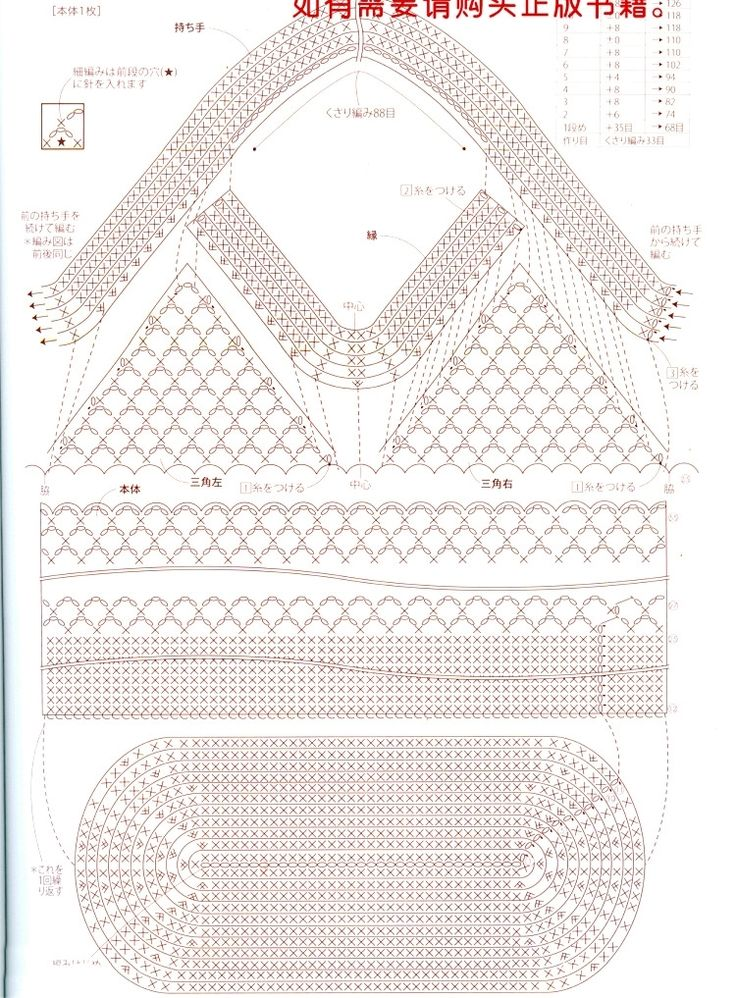 Pattern for a crochet purse. Could use cotton or linen in a contrasting color for a liner.