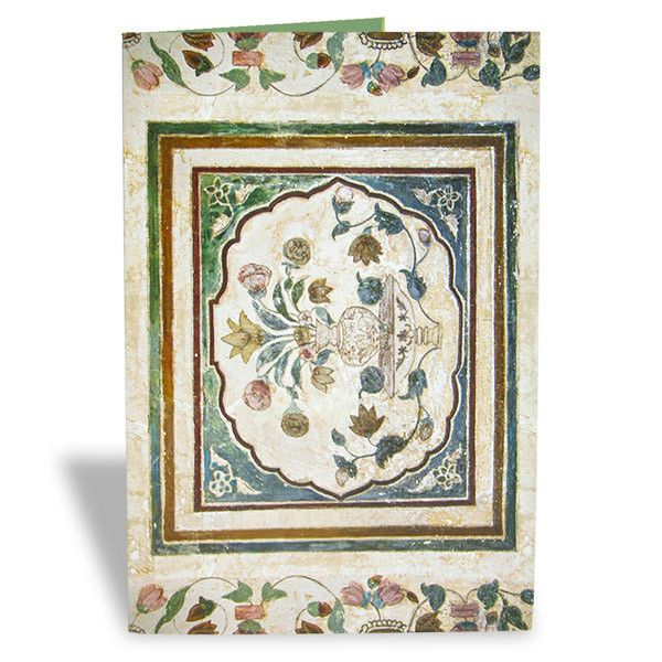Marble Mughal Art Greeting Card  This classy ethnic card can be made an invitation card for any special occasion and a greeting card for everyone you love. | Rs. 75 | Shop Now | https://hallmarkcards.co.in/collections/shop-all/products/marble-mughal-art-greeting-card | Card Size :20.5*14