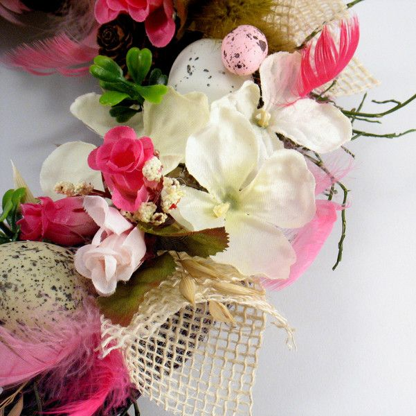 Easter Decorations – Easter wreath – a unique product by Zielonepalce on DaWanda