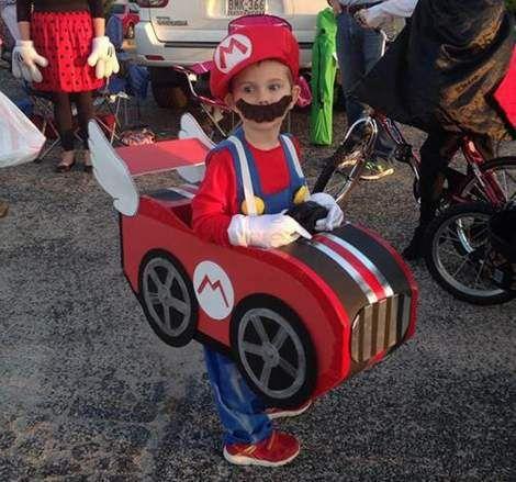DIY mario cart Halloween costume adorableness