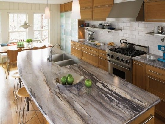 30 Unique Kitchen Countertops Of Different Materials | DigsDigs