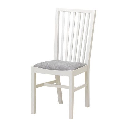 IKEA NORRNÄS Chair White/isunda grey Solid beech is a hardwearing natural material.