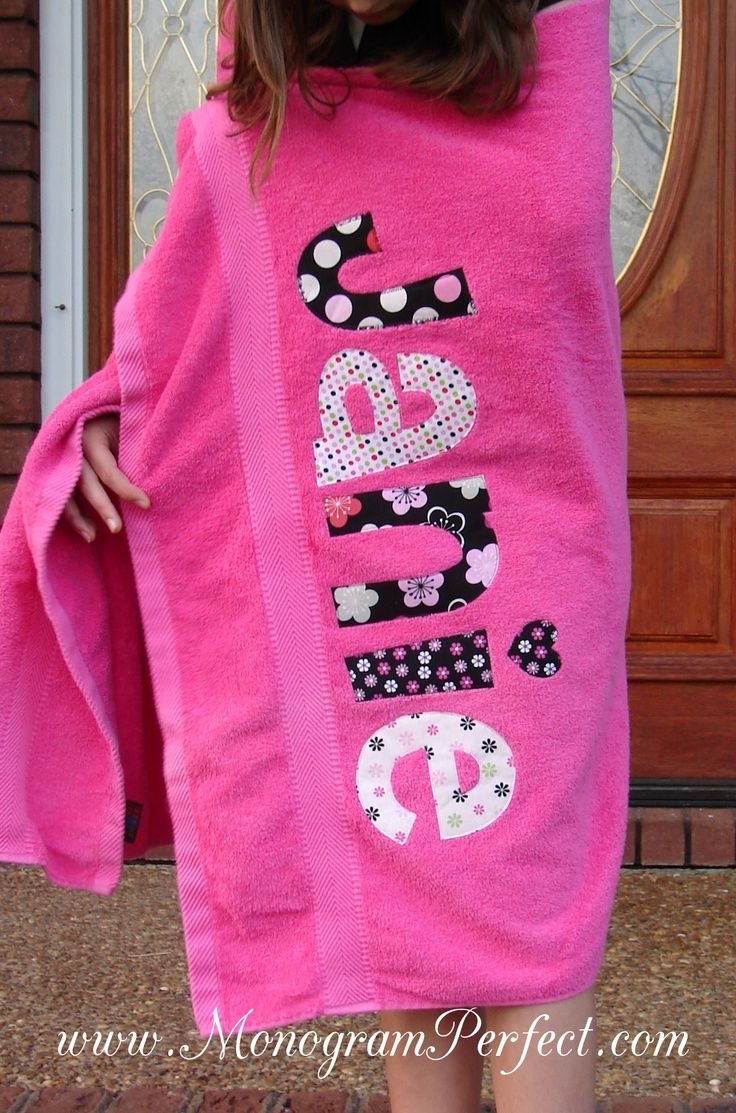 Monogrammed Towels   Monogrammed Beach Towels   Applique and Embroidery