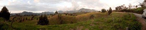 Green field at Central Andes, Santa Rosa de Cabal