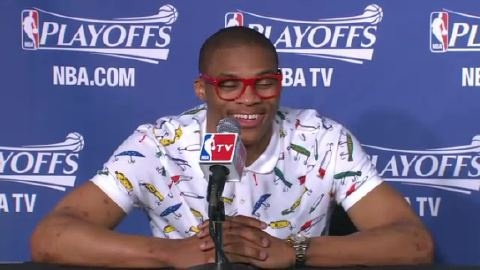 Russell Westbrook Press Conference Outfit, Tues. May 15, 2012