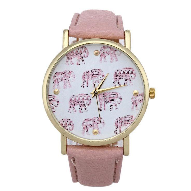 Bayan Saatleri Girl Elephant New Faux Leather Women Watches Men Fashion Quartz Analog Clock Wrist Relojes Mujer Ladies