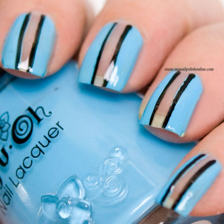 Concrete And Nail Polish Striped Nail Art: Innovative Ideas For Nails And