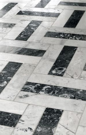 Carrara marble | floor pattern