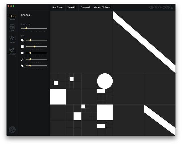 Graphcore Quadtree shape generator by Pentagrm