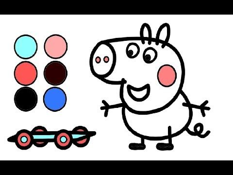 george wutz neues auto zeichnen für kinder   peppa wutz