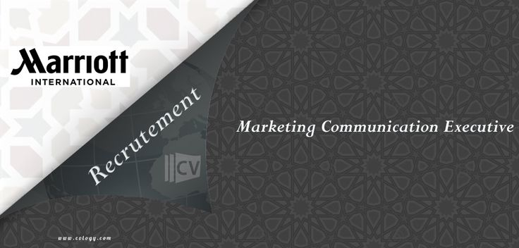 #Marriott_International : #Emploi de #Marketing #Communication Executive à #Fès----->