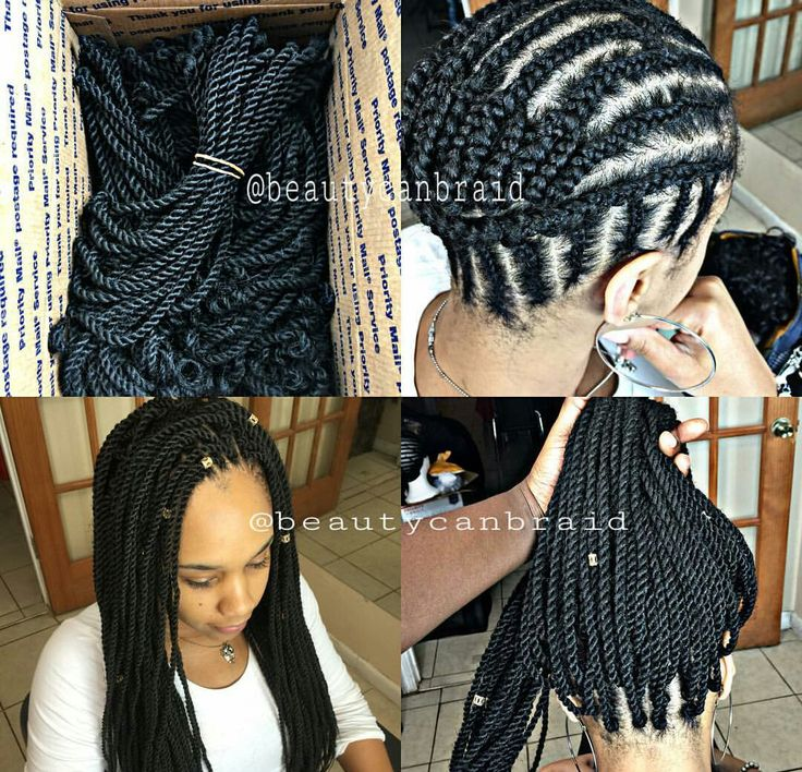 Crocheted Senegalese twist