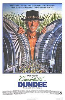 Crocodile Dundee :1986 -Love the last scene..relaying the message through the crowd on the subway platform..