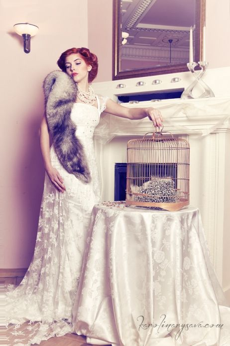 wedding, bride, vintage, belle epoque, czech republic, eventista, bird cage