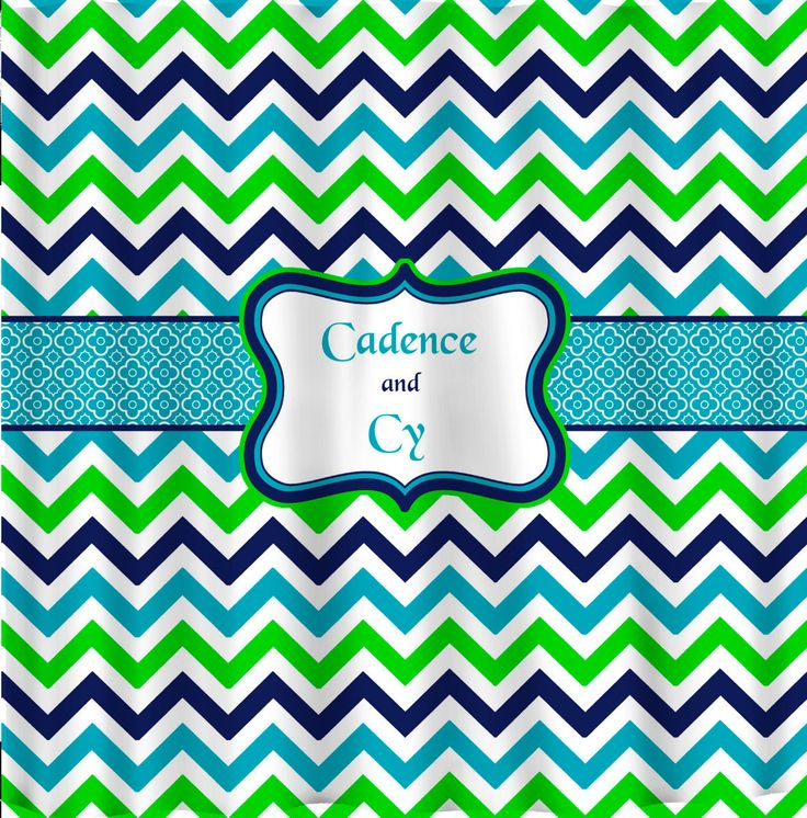 Multi Color Traditional Chevron With Personalization Traditional Products